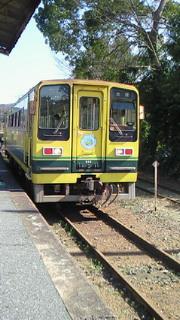 黄色のレールバス!!